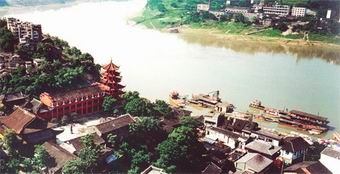 The ancient town of Ci Qi Kou